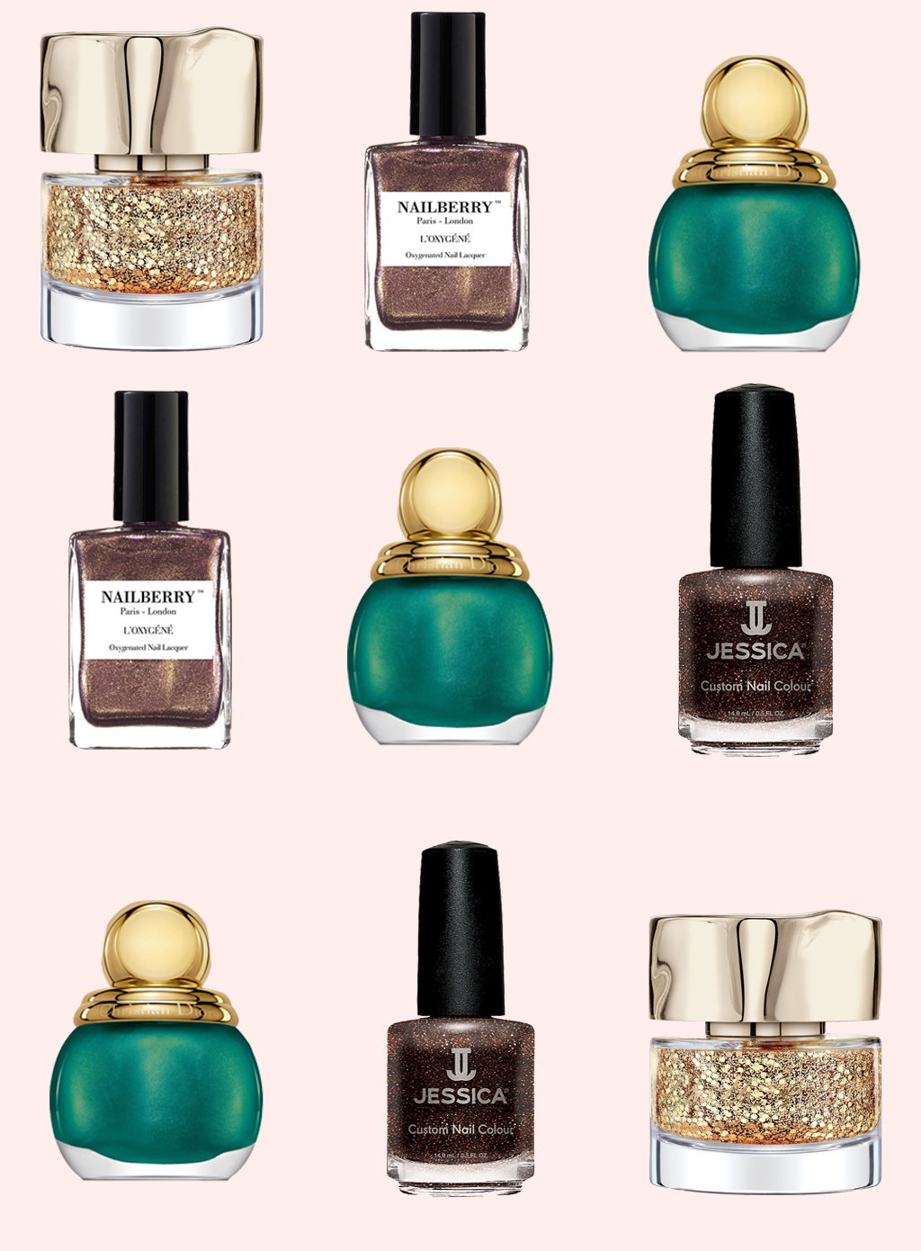 The best Christmas nail polishes 2017 | Powder